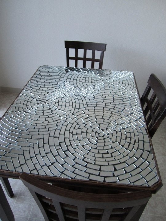 59 best mosaic table tops square images on pinterest for Mosaic coffee table designs