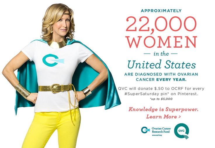 Join the cause! For every time this message is repinned, QVC will donate $.50 to Ovarian Cancer Research Fund, up to $ 5000. #SuperSaturdayIdeas, Fitness Health, Fashion, 5000, Ovarian Cancer, Supersaturday, Donation 50, Fund, Blog