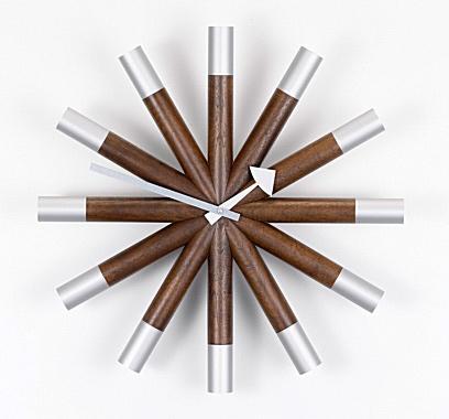 """Джордж Нельсон, Wheel Clock, """"Часы- колесо"""", 1961 год."""
