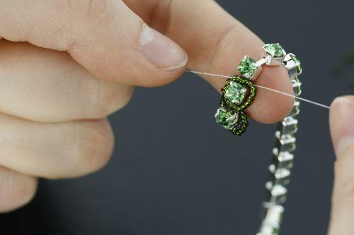DIY pulsera cadena de swarosky