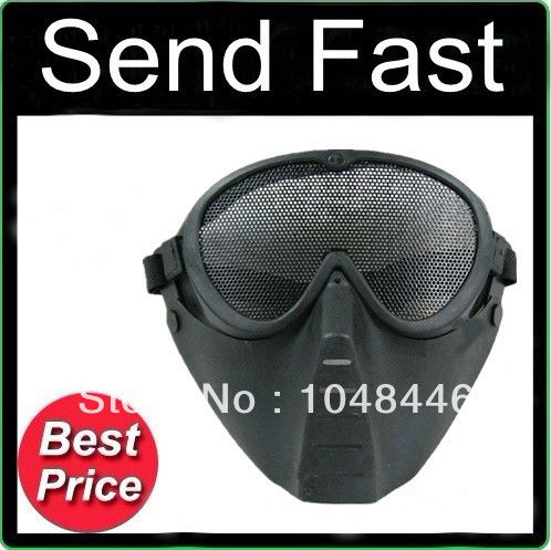 High quality packaging with protective mask protective face mask flies ghost face mask black / green