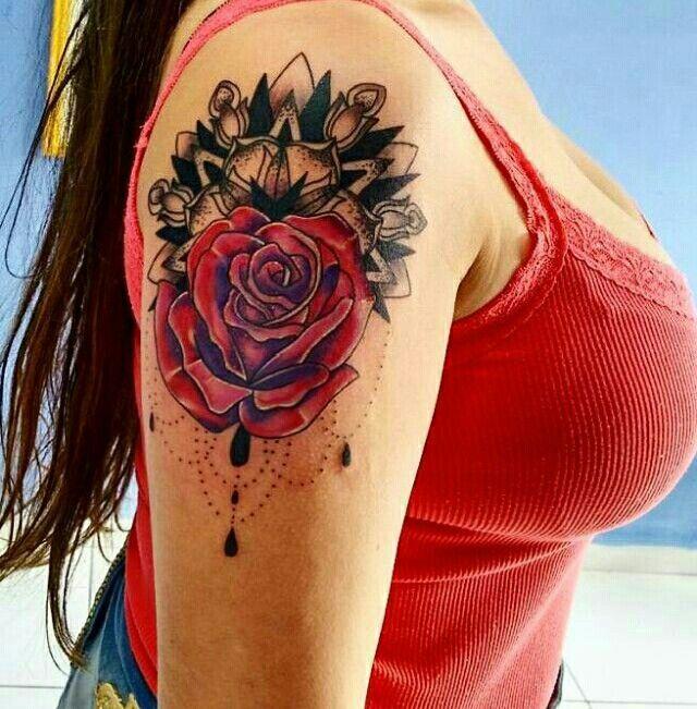 Tatto rose Tatto sholder Tattoo arm Tatuagem rosa Tatuagem ombro  Tatuagem braço