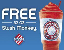 Stripes Stores: FREE 32 oz Slush Monkey Coupon! (Select States) Read more at http://www.stewardofsavings.com/2013/07/stripes-stores-free-32-oz-slush-monkey.html#ZJSfEUXypdy6vhwK.99