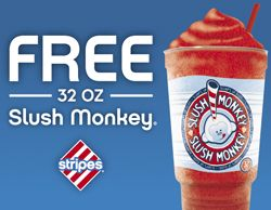 FREE Slush Monkey at Stripes Convenience Stores on http://hunt4freebies.com