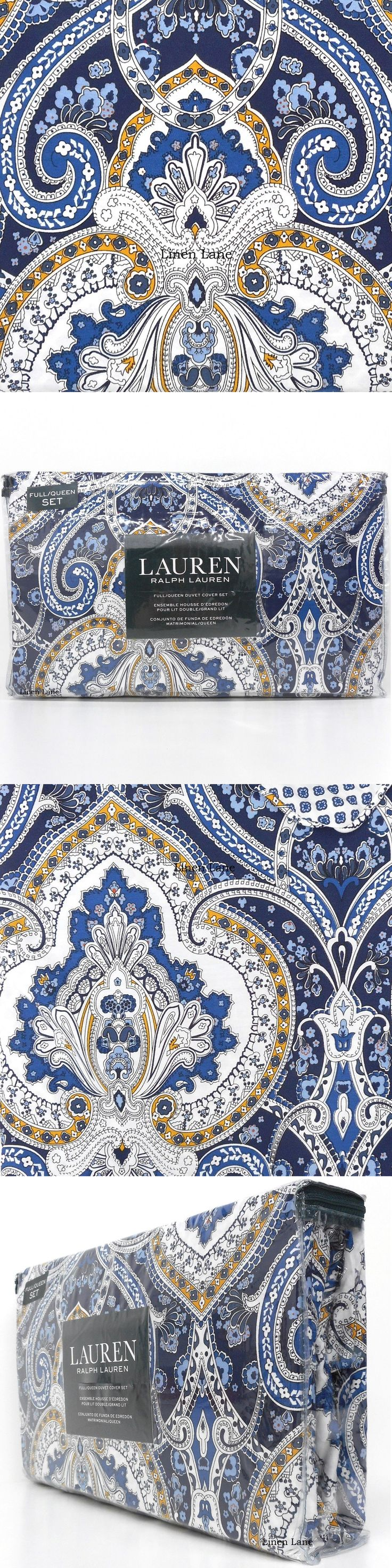 Duvet Covers and Sets 37644: Ralph Lauren Floral Queen Duvet Cover Set Cotton Nwt Blue White Gold Medallion -> BUY IT NOW ONLY: $124 on eBay!