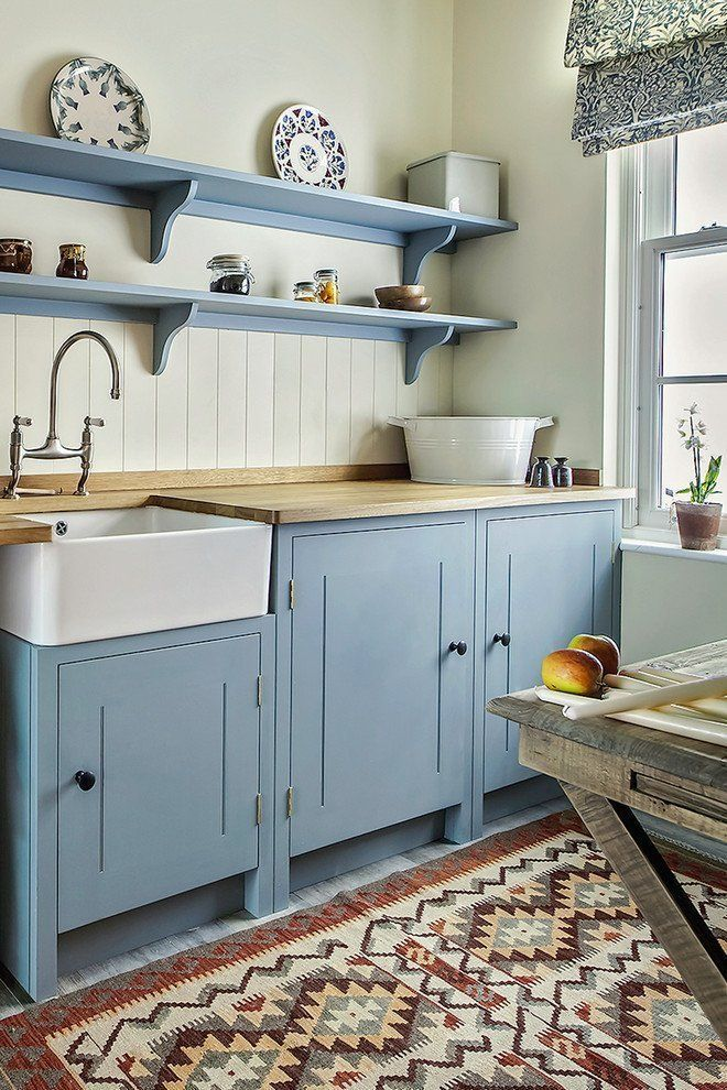 Look We Love 10 Kitchens With Blue Cabinets Rustic Kitchen Kitchen Design Country Kitchen