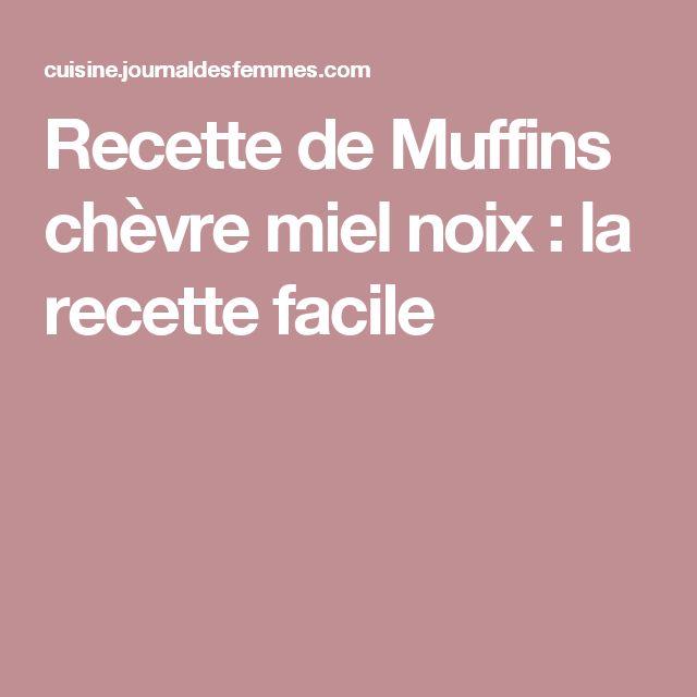 Recette de Muffins chèvre miel noix : la recette facile