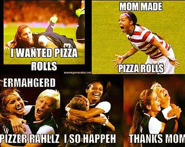 Uswnt... So funny. How friends and I are after soccer