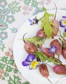 Radis rôtis au four (miel & huile d'olives)