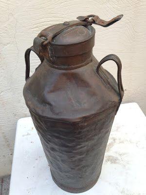 Tarro de Lechero reciclado con decoupage