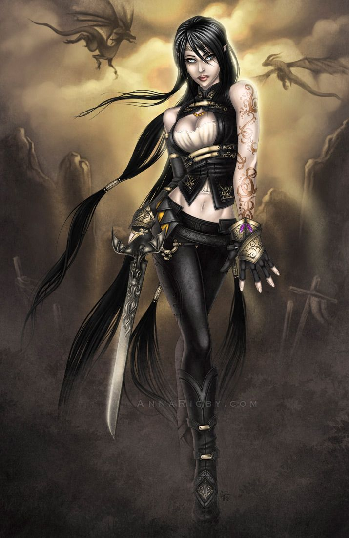 34 best images about dark gothic female warriors on - Fantasy female warrior artwork ...