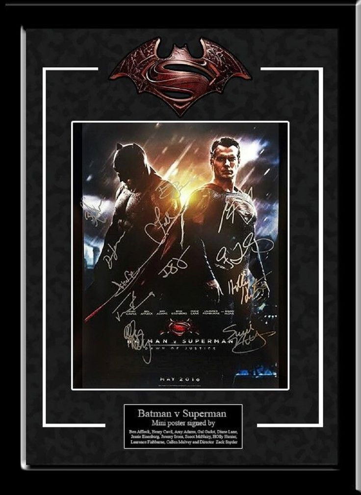 Batman vs Superman- Signed by all Batman and Superman Actors - Framed Artist Series