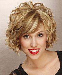 Short hair with plenty of curls! If I had short hair, I would definitely do this style.  Maybe my Mommy can do it for me with long hair!  @Mary Duncan or her cohort in crime @Julie Childers