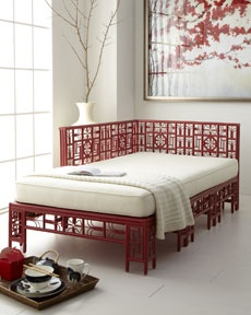 "Love this Red Egg  ""Dallan"" Daybed, a must-have for an Asian inspired room."