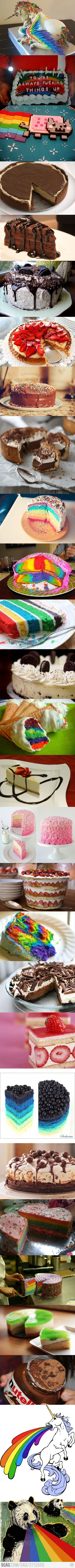 Some crazy & awesome cakes. :D