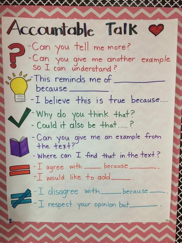 Accountable talk                                                                                                                                                     More