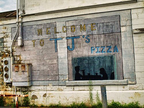 TJs Pizza: Hands Paintings, Signs Paintings, Paintings Signs