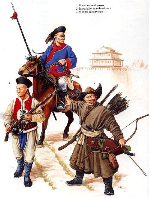 Soldados chinos de la Revolución Taiping, siglo XIX.