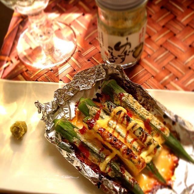 チビ〜ズ仕様にマヨ醤油ケチャップで焼いて柚子胡椒添えてみましたモロッコ料理でもオクラのタジンなどあるのでズッキーニとスパイスも一緒に✌ 美味しいおつまみレシピありがとうございます✨乾杯 - 132件のもぐもぐ - Shinjiterao's Mayo soy sauce grilled okra w/yuzu pepper♨真次さんのオクラのマヨ醤油柚子胡椒 by Ami