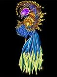 Vector: Uccello del Paradiso Fantasia Astratto-Paradise Bird Fantasy