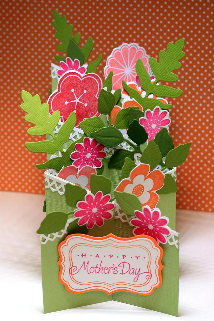 Mother S Day Floral Cascade Greeting Card Craft Paper Crafts Cards Cards Handmade