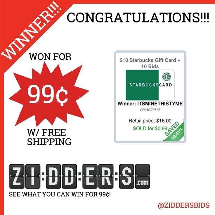 Congratulations for winning this 10