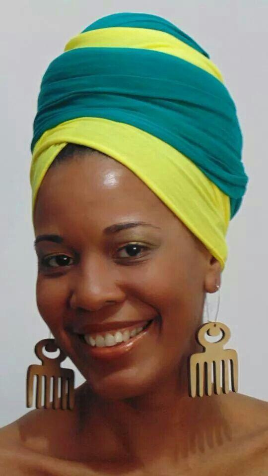 Work that head wrap mama!   www.talktresses.com