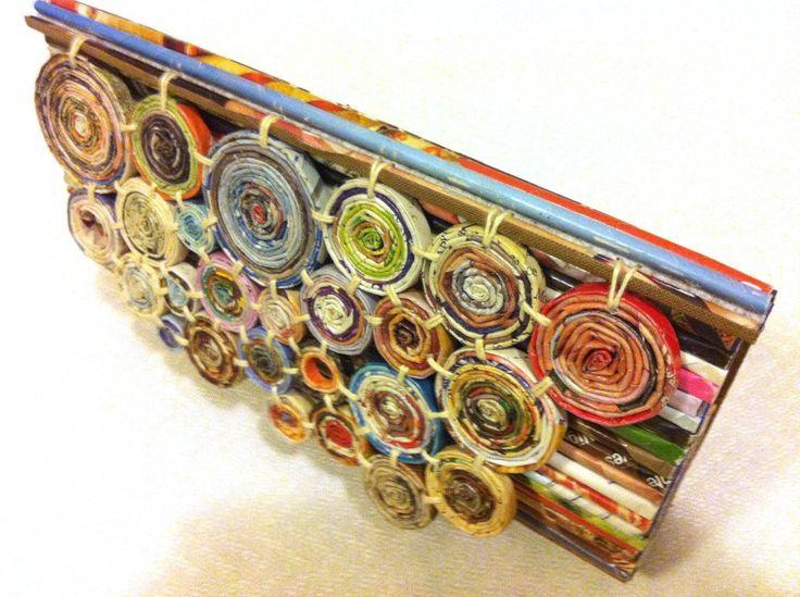 Recycled paper unique purse CLUTCH