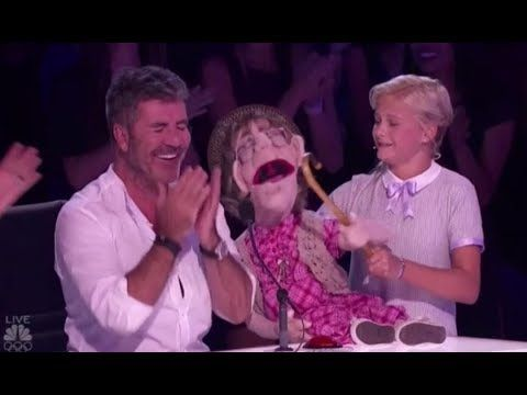 Darci Lynne: Her Naughty Old-lady Puppet 'Edna' Makes Simon Cowell BLUSH!! America's Got Talent 2017 - YouTube