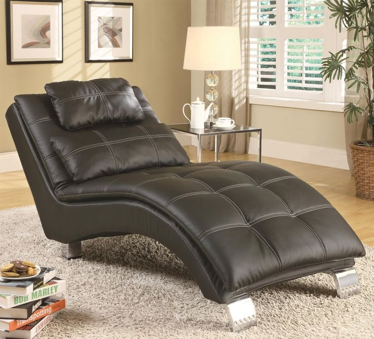 coaster home furnishings chaise black capitalize on style with the casual look of this living room chaise