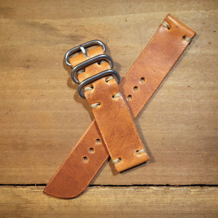 E3 Horween Leather NATO Watch Band- Classic 2 Piece