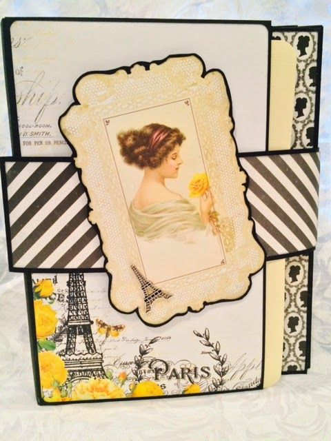 Crafting Passions: Paris Anyone? A Foto Folio Scrapbook in Yellow and...