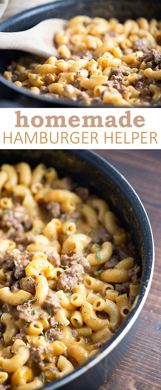 My kids beg me to make them this easy homemade hamburger helper!