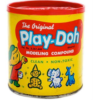 Play-Doh: Did you know that this was originally invented in the 1930′s as a wallpaper cleaner? It didn't become an official kids' toy until 1958. Can you imagine all of the annoyed moms searching in vain for their wallpaper cleaner blob, only to find it being molded into a dog by little Eddie? No, me neither. To date, 700 million pounds, or 2 billion cans of Play-doh have been sold.