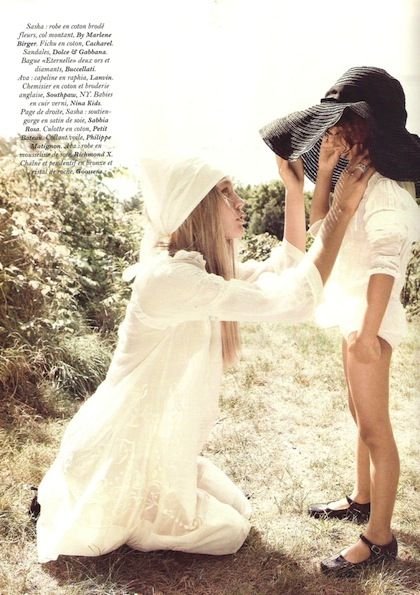 french vogue: Hats, Pregnancy Styles, Little Girls, Mothers Day, Mothers Daughters, Vogue Paris, Sasha Pivovarova, Photography, Mommy Jewelry