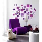 Found it at Wayfair - Euro Squares Wall Decals
