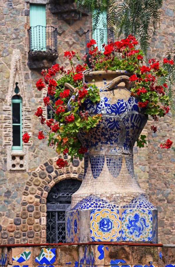 Torre Bellesguard (Gaudi) by Terrill Welch, Barcelona, Catalonia