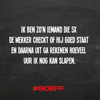 #wekker #slapen #boeff