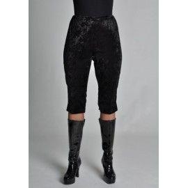 Déguisement Legging Court Noir De Luxe Femme