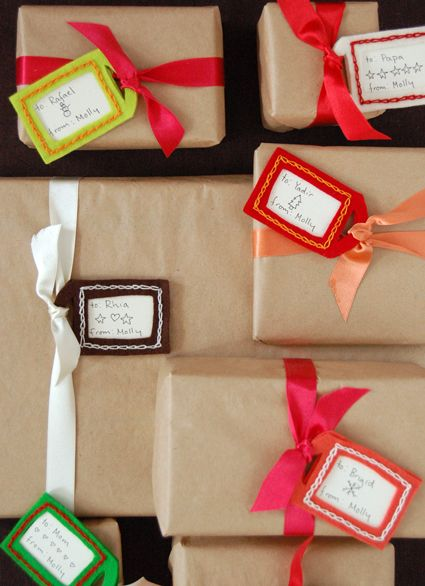 Felt GiftTags - the purl bee