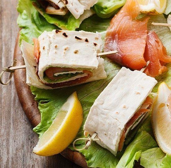 Piadine di riso con salmone e robiola | casadivita.despar.it
