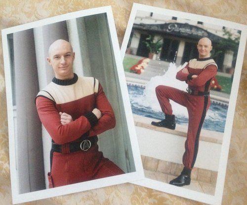 Tom Hardy as a young Shinzon in Star Trek.
