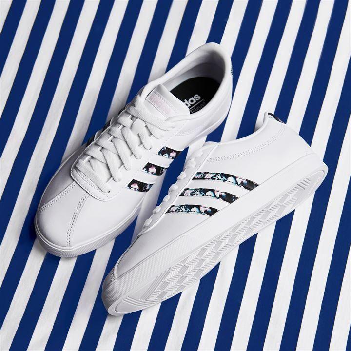 Ladies white adidas trainers
