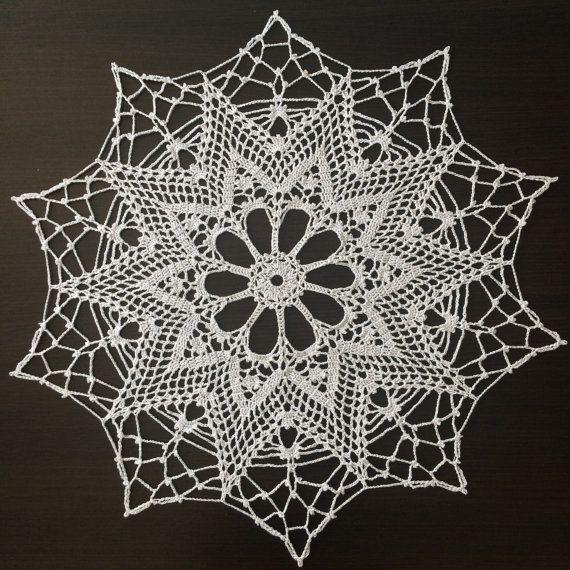 Christmas Star IV  Handmade Lace Crochet Doily/Wall by ZiNaCrochet