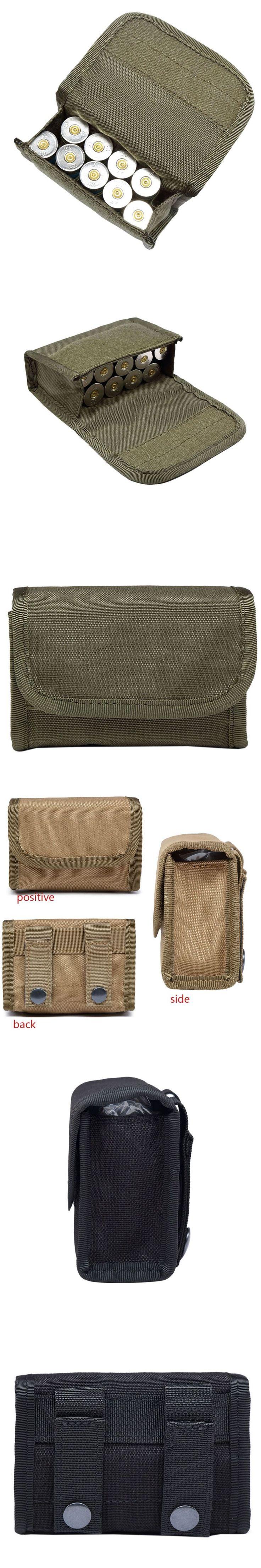 Tactical 10 Round Shotgun Shotshell Reload Holder Molle Pouch for 12 Gauge/20G Magazine Pouch Ammo Round Cartridge Holder j2