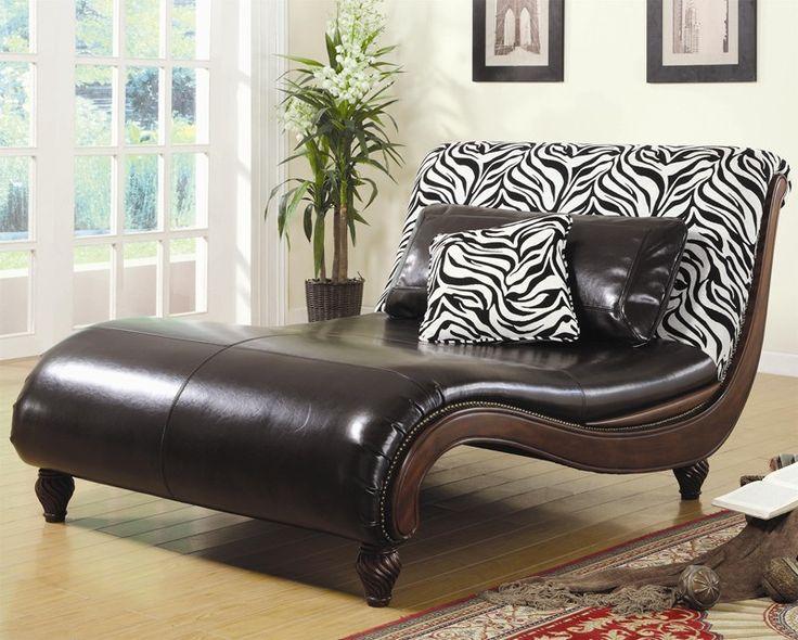 zebra print chaise