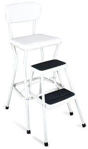 Cosco 11-18WHT Retro Chair/Step Stool, White