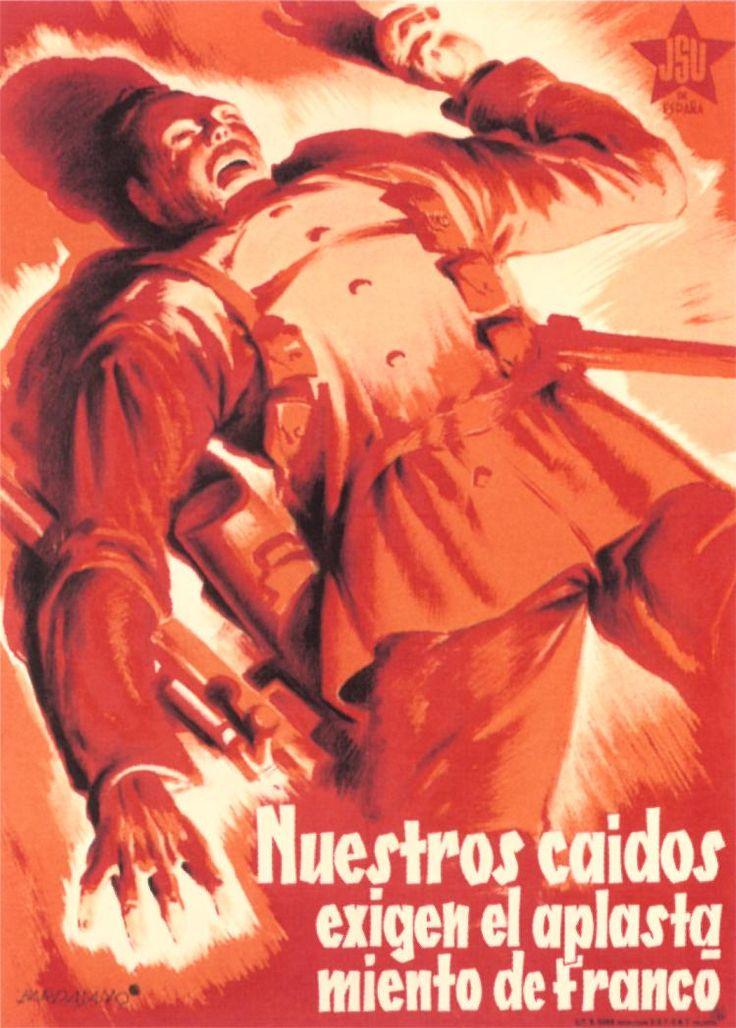 Nuestros Caidos (Our Fallen) by José Bardasano, between 1936 and 1939. Contributor: Juventud Socialista Unificada.