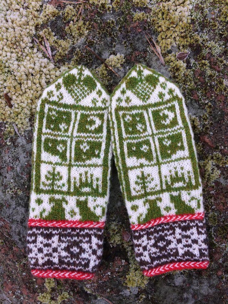 Skeindeer knits vantmysterie Julekveld är löst och mina vantar är färdiga. Mönstret är bedårande gulligt tycker jag. Hade jag vetat mot...