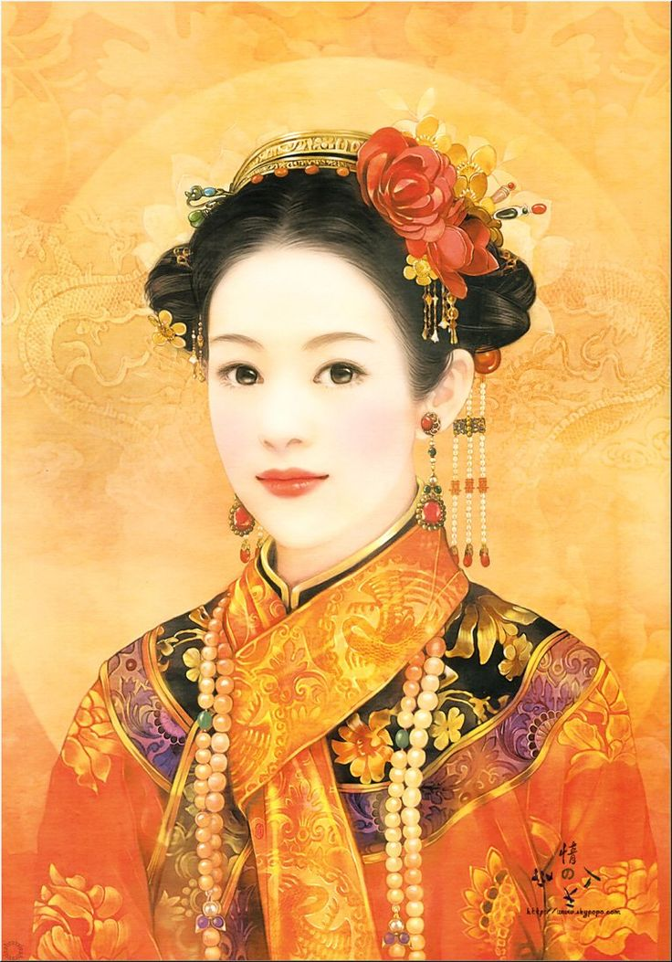 Chinese painting of beautiful woman | vintage inspired ...